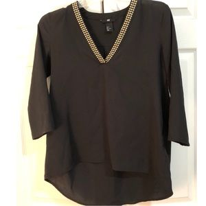 H&M Beaded Blouse